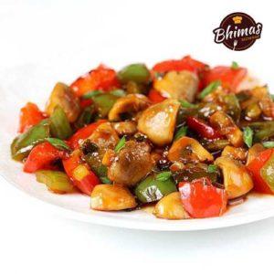Chilly Mushroom-Bhimas