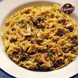 Mushroom Biryani-Bhimas